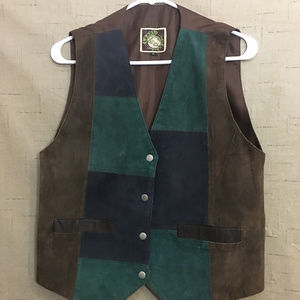Ladies patchwork leather vest